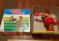 vintage tin wind up boxing monkey made in japan in box tin toy lot