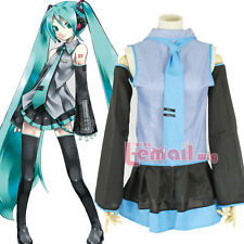 Vocaloid Hatsune Miku Halloween Cosplay Costumes Fancy Uniform Dress 5pcs/Set