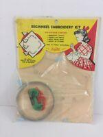 Vintage Vogart Beginner's Embroidery Kit in Unopened package. D