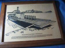 J. Adams Ink Print, View Of The Boat Landing & Ferry, Peach Bottom,Pennsylvania