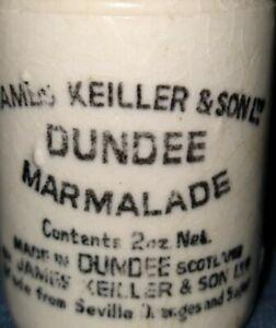 vintage James Keiller & Son -2oz Marmalade sample Jar -Dundee Scotland  1800's