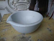 schwerer englischer antik Apotheker Salben Tiegel UNGUENT Porzellan