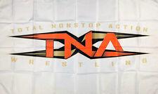 New listing Tna Total Nonstop Action Wrestling Flag 3x5 ft White Banner Man-Cave Garage New