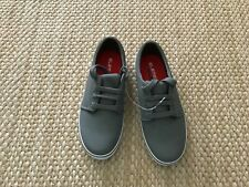 Elements by Nina Boys Gray Lace Up Red Sole Sneakers Size 2