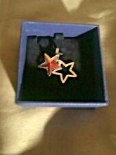 Swarovski Double Star Crystal Charm