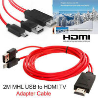 MHL Micro USB to HDMI 1080P HD TV Cable Adapter Cell Phone for Samsung Android