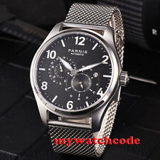 44mm parnis black dial sapphire glass 21 jewels miyota automatic mens watch P813