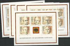 Bund aus 1982 ** postfrisch 5x Block 18 MiNr.1156-1160 - Bundespräsidenten!