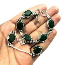 Gorgeous! Kashmiri Emerald Silver Plated Adjustable Bangle & Ring Jewelry