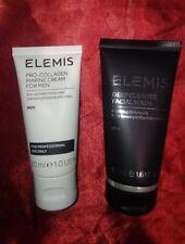 Elemis Pro Collagen Marine Cream For Men 30ml Professional Deep Facial Wash 50ml