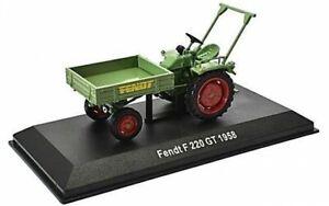 Fendt Geräteträger F 220 GL, 1958, Traktor Modell 1:43, Atlas Magazinmodell