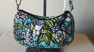 Vera Bradley Crossbody *Island Blooms* Pop Shoulder Bag Blue Green Floral Purse