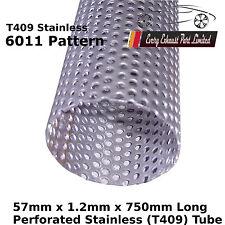 """t304 tube en acier inoxydable tuyau d/'échappement réparation 0,75 m 30 /"""" 45mm x 1,0 mm x 750 mm"""