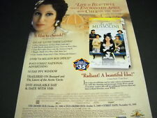 Cher 1999 Promo Poster Ad from Tea With Mussolini mint condition