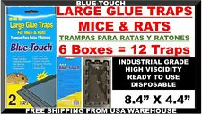 """8.4"""" Large Sticky Glue Rat Mice Mouse Traps Baited Rodent Pest Control 6 Pk = 12"""