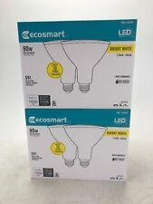 EcoSmart 90W PAR38 Non-Dimmable Flood LED Light Bulbs, Bright White (4 pack)