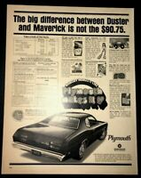 Life Magazine Ad 1970 PLYMOUTH DUSTER 1970 Ad