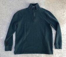 Polo by Ralph Lauren Men's Vintage Green Quarter Zip Pullover Sweater Size L