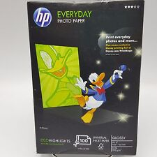 hp everyday photo paper 100 pack 4x6 inch Glossy Cut Tab Q5440A Inkjet