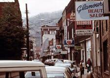 Photo. 1973-4. Logan, West Virginia.  Main Street