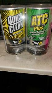 1 set of 2 cans of  BG QUICK CLEAN ATC PLUS TRANSMISSION FLUID FLUSH KIT