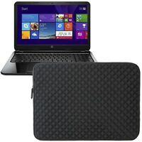 "Neoprene Portfolio Sleeve Case Pouch Bag For HP 15-R018DX/15-f009wm 15.6"" Laptop"