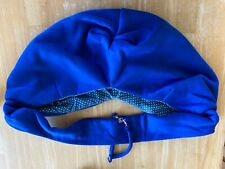 puppy/small dog sling - machine washable- fits dogs up to 12 pounds- blue/white