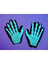 "1 Paar Handschuhe ""Skelett"" Floureszierend Kostüm Accessoires Halloween"