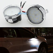 2Pcs White LED Side Mirror Puddle Light For Ford Edge Mondeo Explorer Taubus