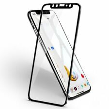 3D Full Cover Metal Edge Tempered Glass Screen Protector For iPhone 11 Pro Black