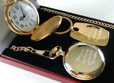 SERENITY PRAYER 24K Gold Clad Pocket Watch & KEYRING Free Engraving AA GA NA