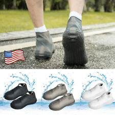 Unisex Outdoor Foldable Slip Rain Waterproof Shoe Covers Silicone Boot Shoes USA