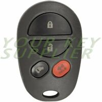 New Replacement Keyless Entry Remote Key Fob GQ43VT20T for Toyota Sienna