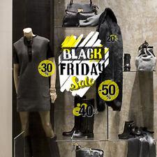 UVBF0011 Vetrofanie Black Friday adesivi per vetrine negozi promozioni 40x30  cm