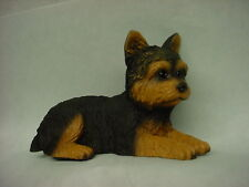 YORKIE dog HANDPAINTED FIGURINE Yorkshire Terrier Puppy resin Statue COLLECTIBLE