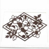 Stanzschablone Blume Karo Weihnachten Neujahr Hochzeit Oster Karte Album DIY