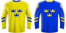 NEW 2020 Sweden Hockey Jersey LINDHOLM LANDESKOG ZIBANEJAD RAKELL BACKSTROM NHL
