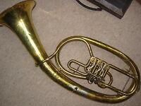 """Nice German tenorhorn or baritone rotary valves """"Meinel & Herold"""""""