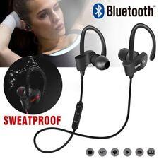 Latest 4.1 Bluetooth Sweatproof Wireless Earphones Headphones with Mic Sport Gym