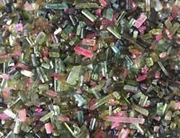 50 Ct 100% NATURAL Multi Color TOURMALINE STICK ROUGH GEMSTONE LOOSE RAW LOT