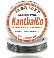 22 Gauge AWG Kanthal Wire A1 Round 50ft Roll 0.64mm 1.31 ohms/ft Resistance