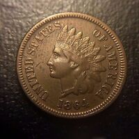 1864 L Bold RPD Snow 2b 1 Indian Head Cent XF Extremely Fine Key Variety Type