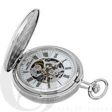 New Charles Hubert Double Hunter Case Mechanical Pocket Watch 3537