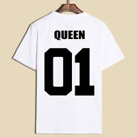 New Couple King and Queen T-Shirt Love Coatching Shirts Couple Tee Tops Clothes
