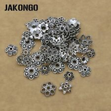 150pcs Antique Silver/Bronze Bead Caps for Jewelry Making Bracelet Accessories