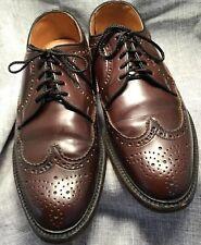 Sears Do Pont Corfam Poromeric Brown Wingtip dress shoes Men's Size 8 1/2 EE