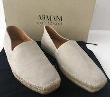 New $395 Armani Collezioni Espadrilla Mens Suede Loafers Shoes Sand 11 US X6S004