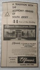 1964 Elfman's Cancellation Shoe Store - Atlantic City NJ Advertisement