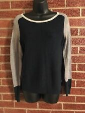 JCP Womens Colorblock Sweater Elbow Patch Medium
