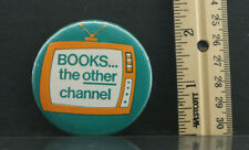 """""""Books the Other Channel"""" Tv Image Pin Button - Used B317"""